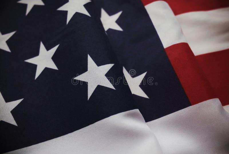Tappningstjärna- och bandflagga av USA arkivfoto