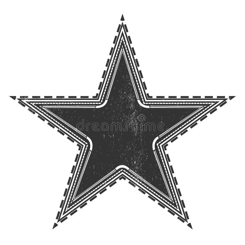 Tappningstjärnaetikett stock illustrationer