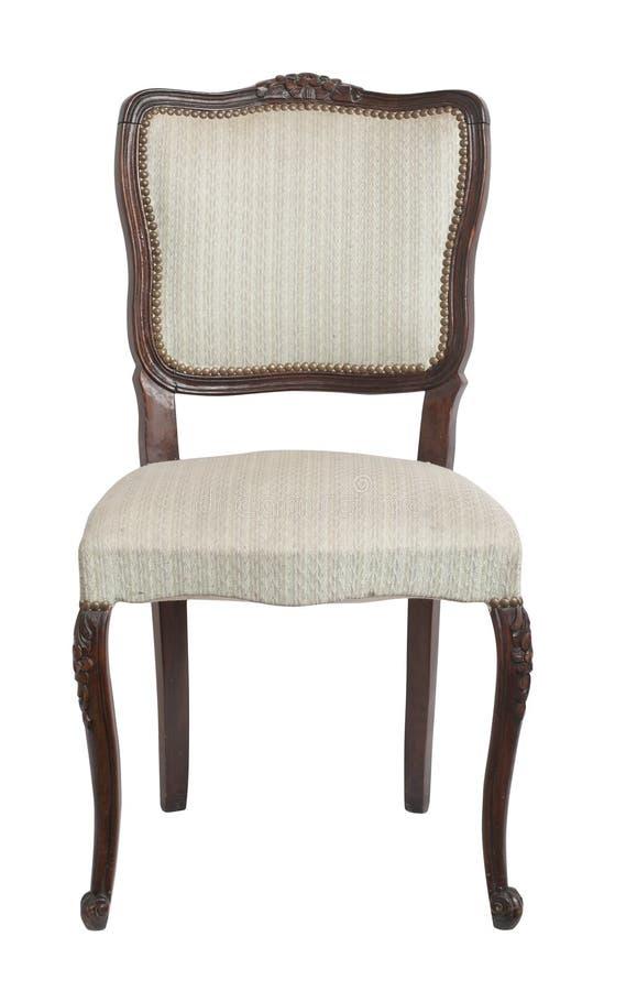 Tappningstol på vit bakgrund royaltyfri fotografi