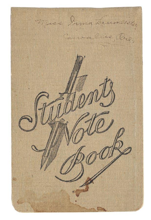 Tappningstudents anteckningsbok arkivfoto