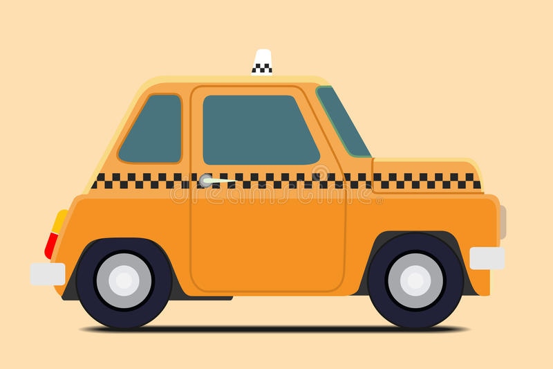 Tappningtaxi royaltyfri illustrationer