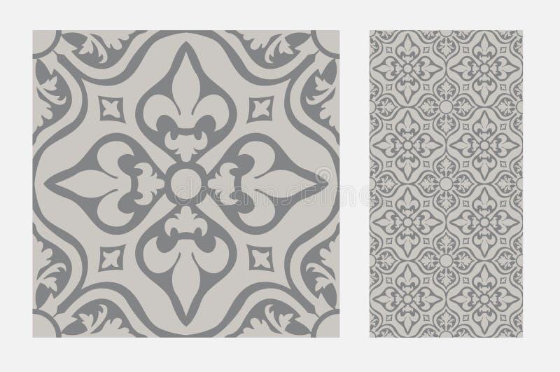 Tappningtegelplatta royaltyfri illustrationer