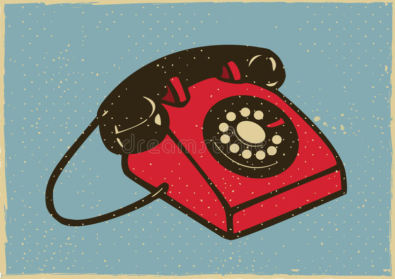 Tappningtelefon royaltyfri illustrationer