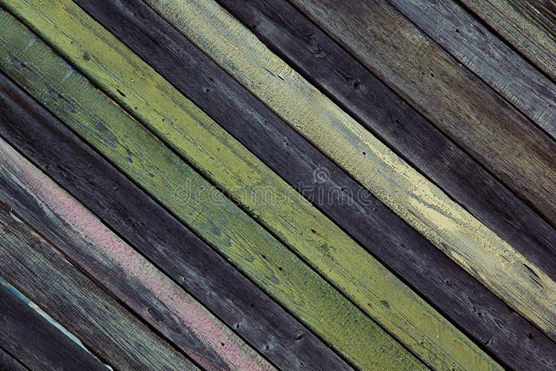Tappningträbakgrund Оld mångfärgade bräden textur arkivbild