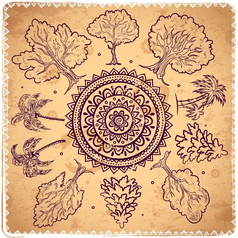 Tappningträd av livillustrationen royaltyfri illustrationer