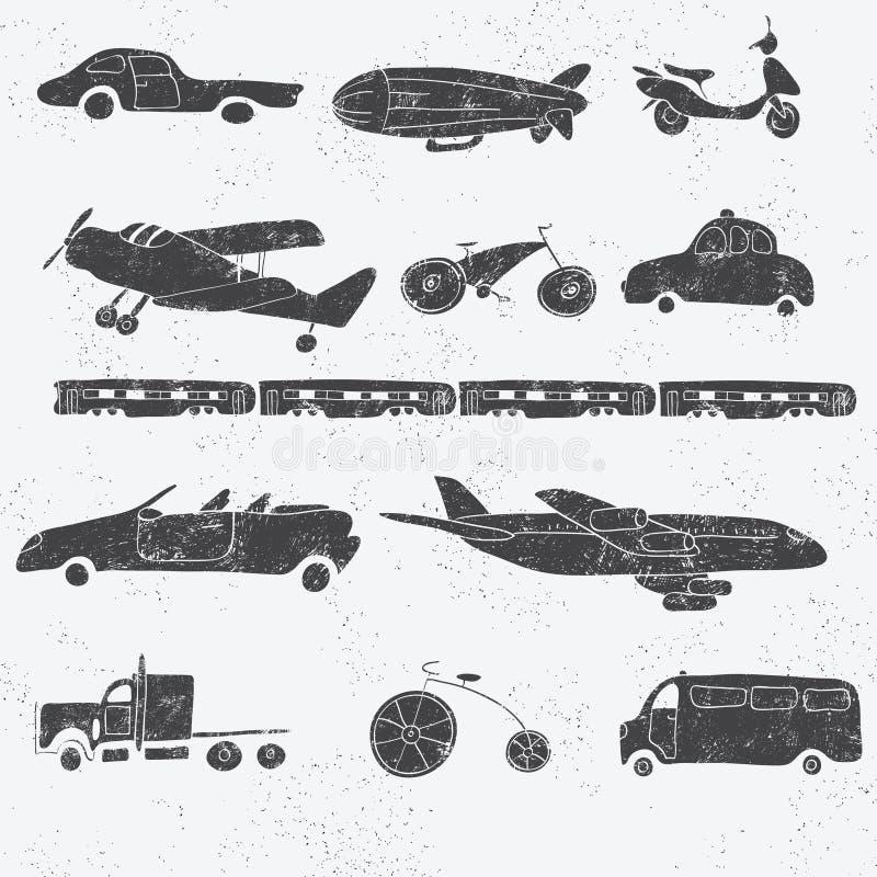 Tappningtransportuppsättning royaltyfri illustrationer