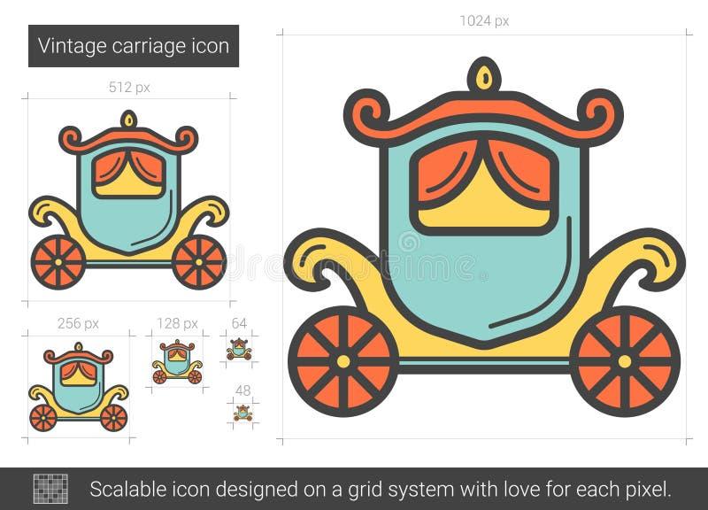 Tappningvagnslinje symbol stock illustrationer