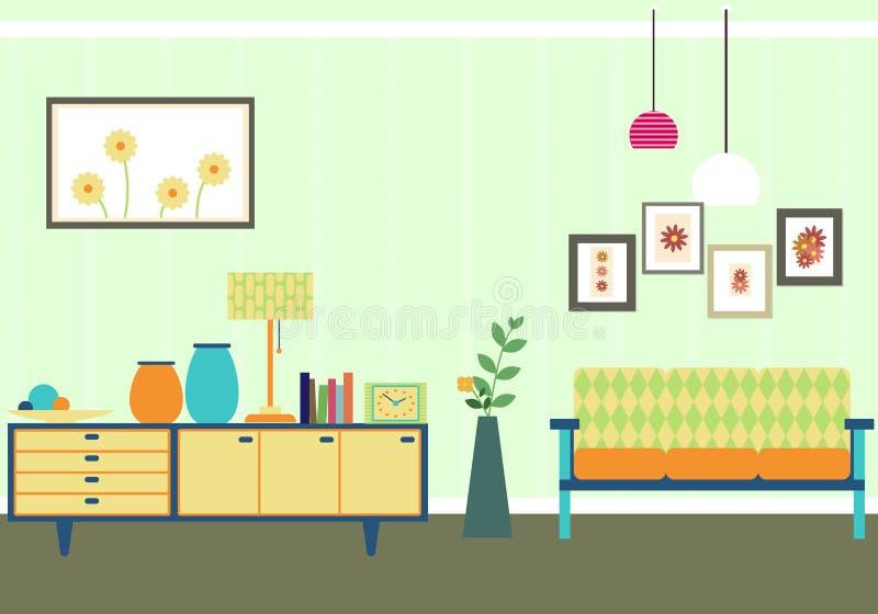 Tappningvardagsruminre vektor illustrationer