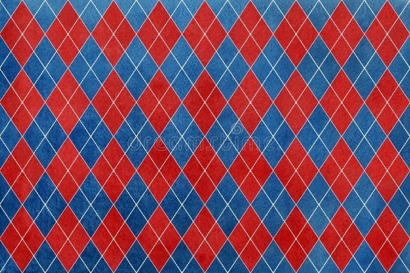 Tappningvattenfärgmörker - blått och mörker - röd diamantmodell vektor illustrationer