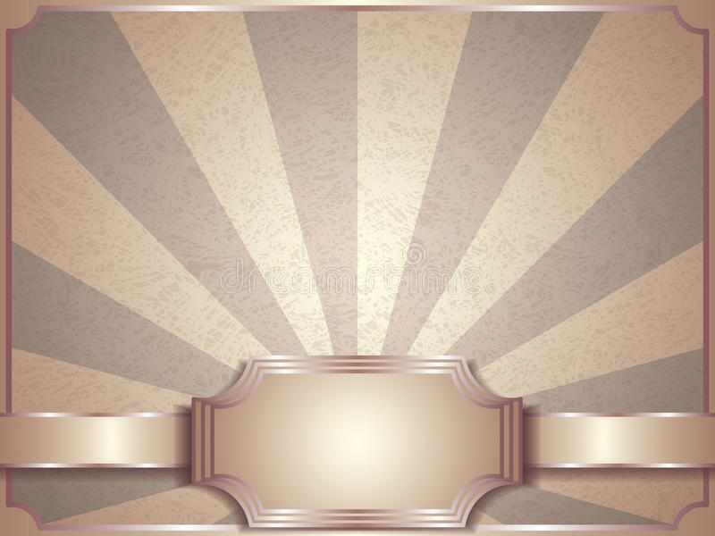 Tappningvektorbakgrund, retro etikett stock illustrationer