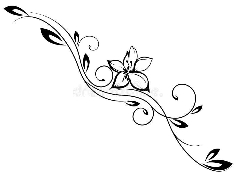 Tappningvektorblomma royaltyfri illustrationer