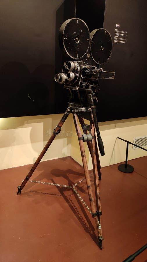 Tappningvideokamera för filmskytte på den malajiska arvmitten, Singapore royaltyfri foto