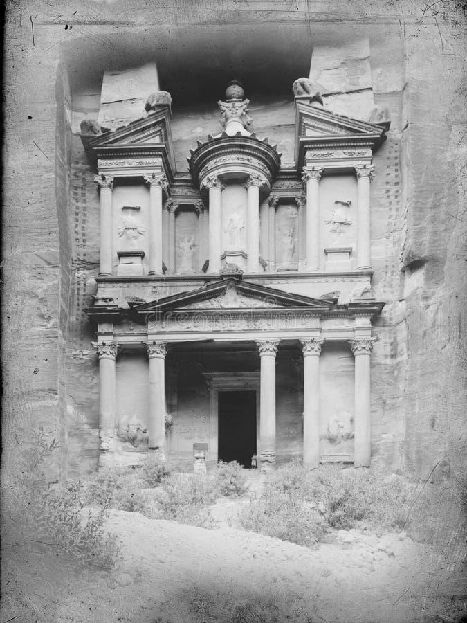 Tappningvykort, Petra, Jordanien, lopp, Mellanösten arkivfoton