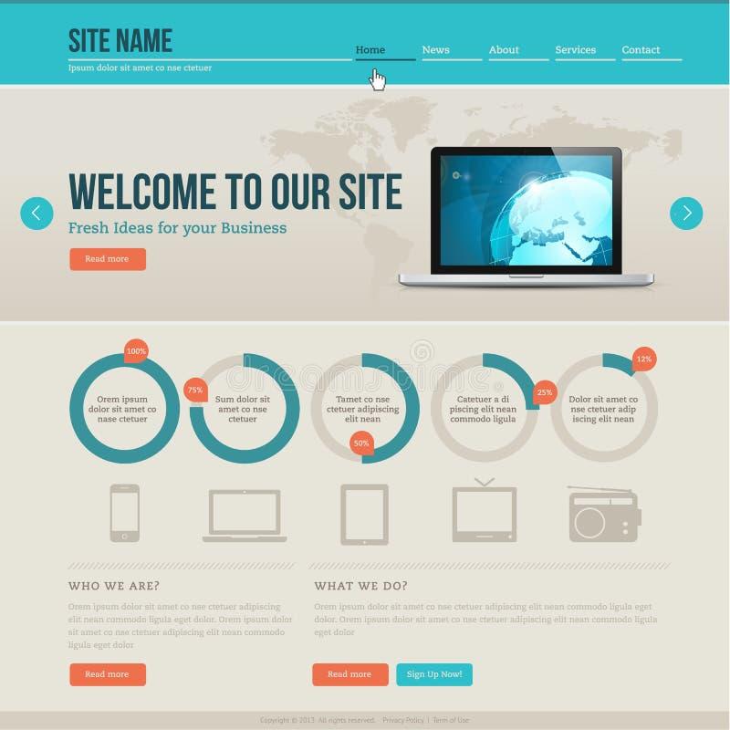 Tappningwebsitemall stock illustrationer