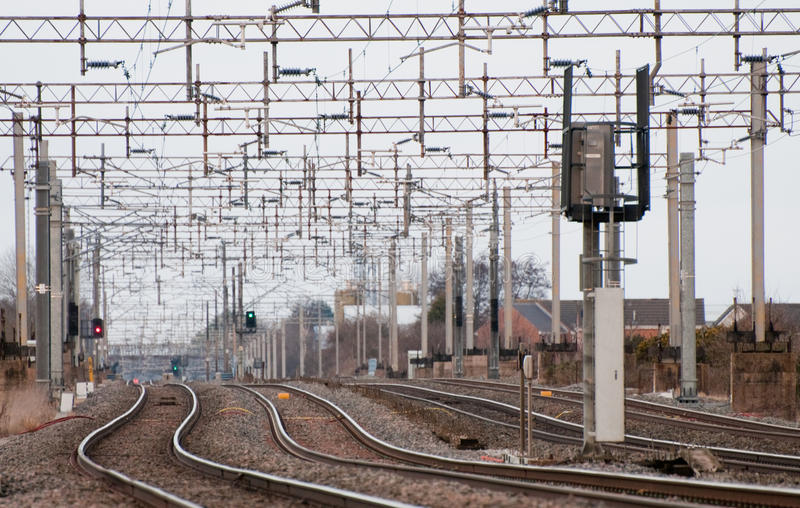 Tapumes Railway fotografia de stock royalty free