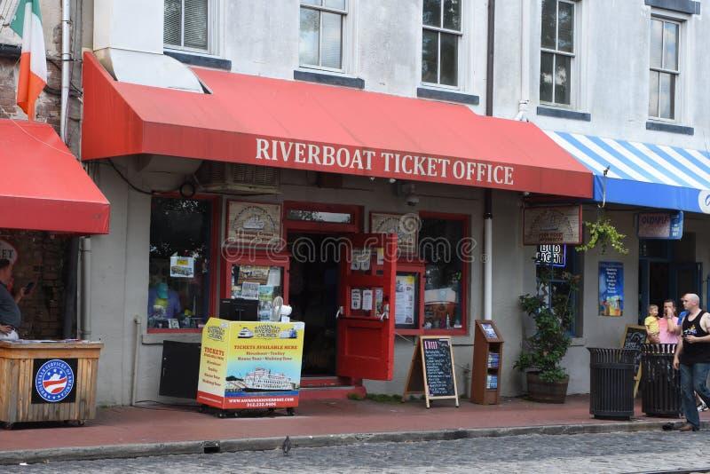 Taquilla de la barca, sabana, GA foto de archivo libre de regalías