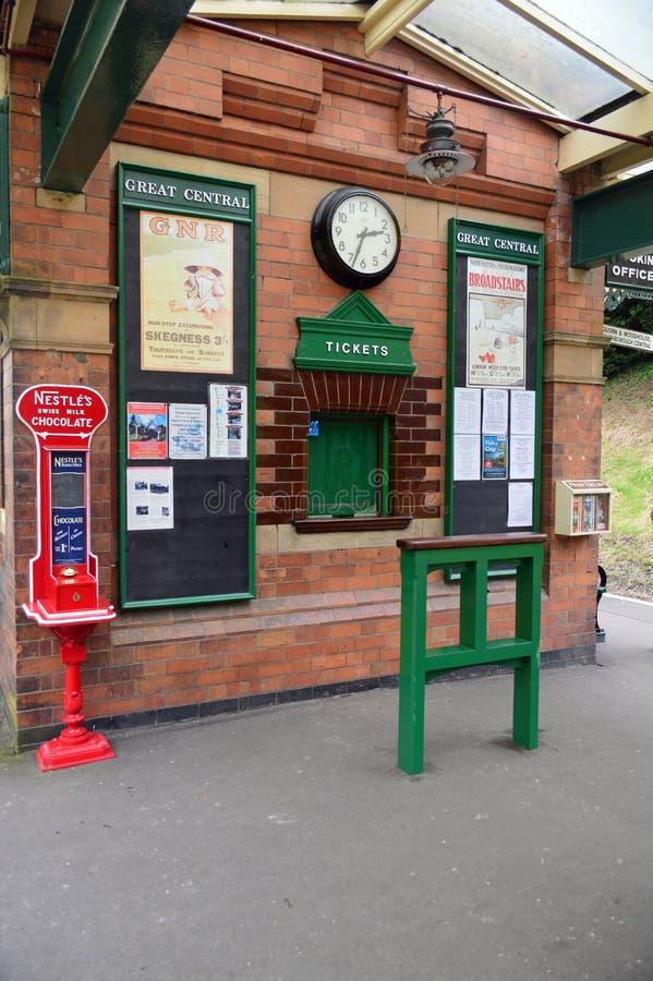 Taquilla de la estación de Rothley fotografía de archivo