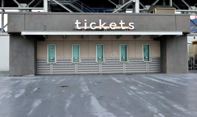 Taquilla en el estadio del NFL fotografía de archivo libre de regalías