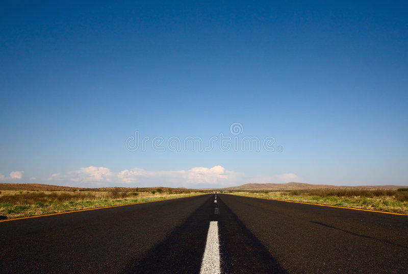 Tar road. Low angle picture of a black tar road stock images