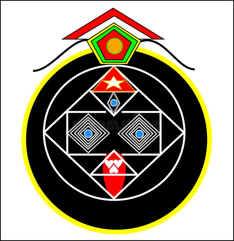 Tara maa third eye concept with special love teeth stock images