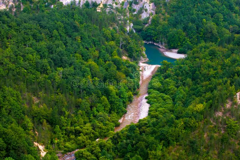 Tara River Canyon, parc national de Durmitor, Monténégro image libre de droits