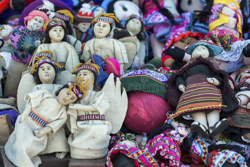 Tarabuco,玻利维亚传统地方星期天市场  库存图片