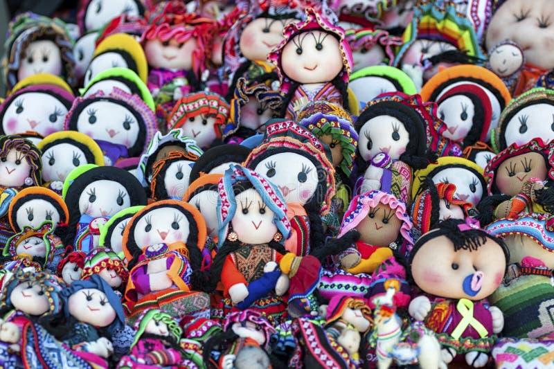 Tarabuco,玻利维亚传统地方星期天市场  免版税图库摄影