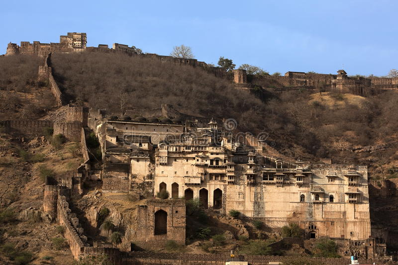 Taragarh fort. Of Bundi in rajasthan state in india royalty free stock images