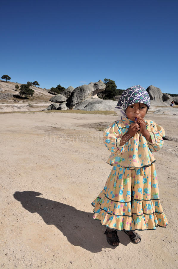 Tarahumara girl royalty free stock image
