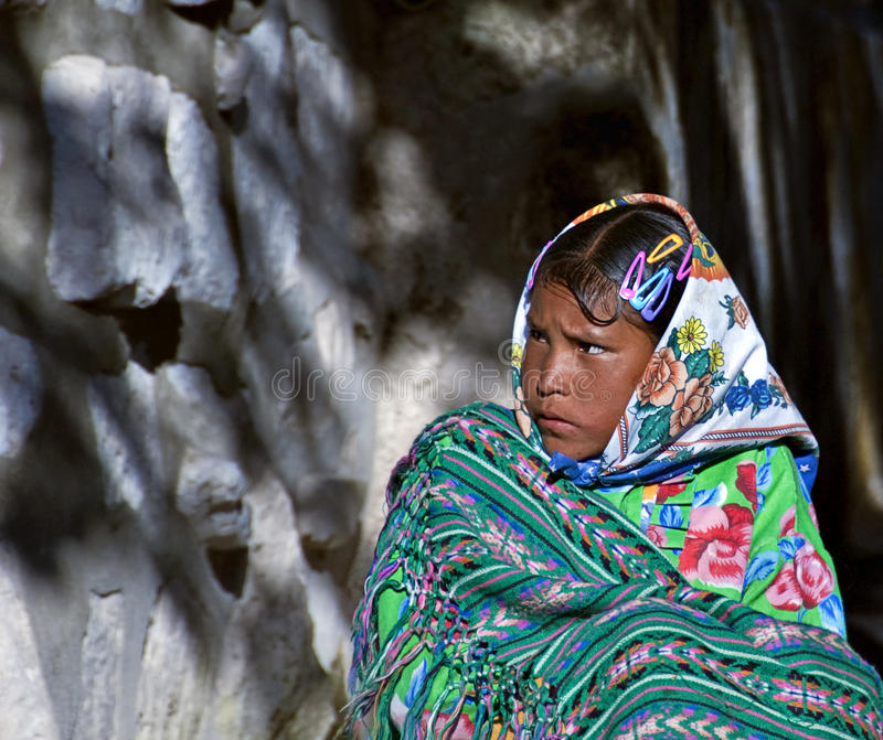 Tarahumara Girl, Mexico royalty free stock image