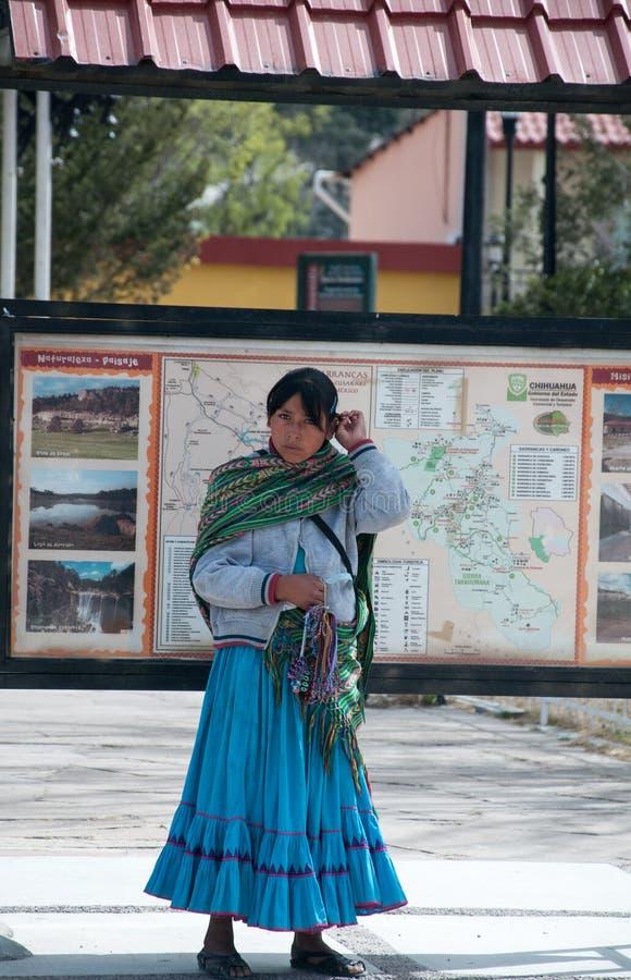 Tarahumara's girl. Mexico royalty free stock photography