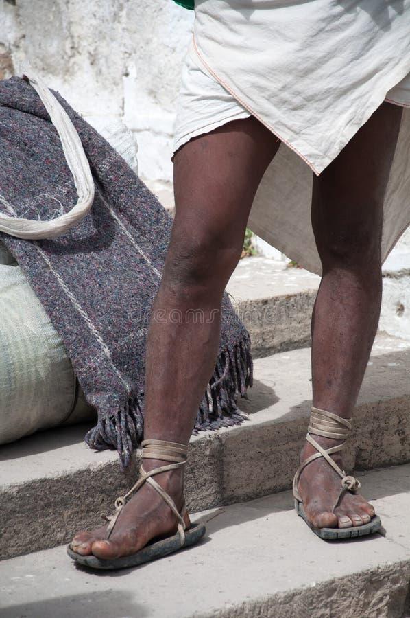 Tarahumara's shoes. Mexico royalty free stock image