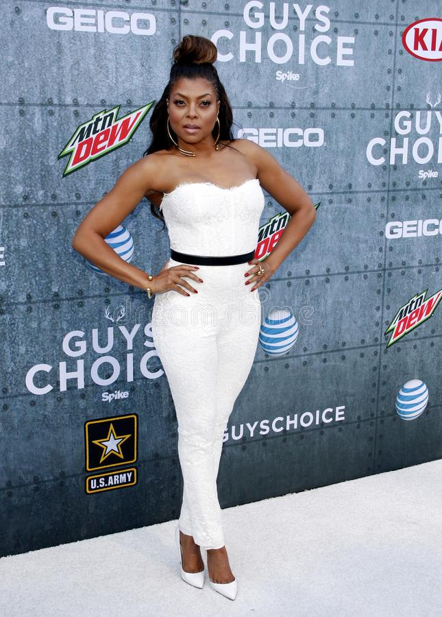 2015 Spike TV`s Guys Choice Awards. Taraji P. Henson at the 2015 Spike TV`s Guys Choice Awards held at the Sony Pictures Studios in Culver City, USA on June 6 royalty free stock image