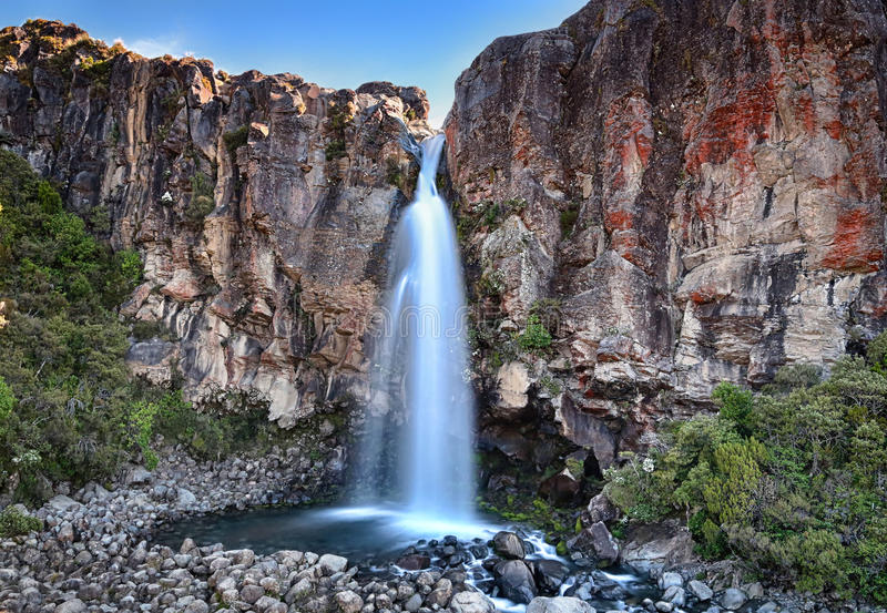 Taranaki下跌(东格里罗国家公园,新西兰) 免版税库存照片