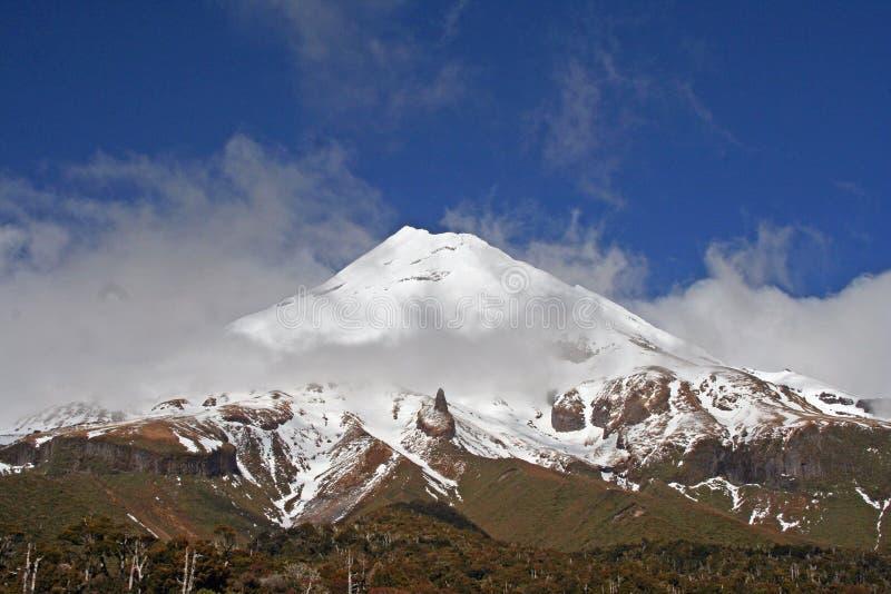 Taranaki lub Mount Egmont New Plymouth, Nowa Zelandia obrazy royalty free