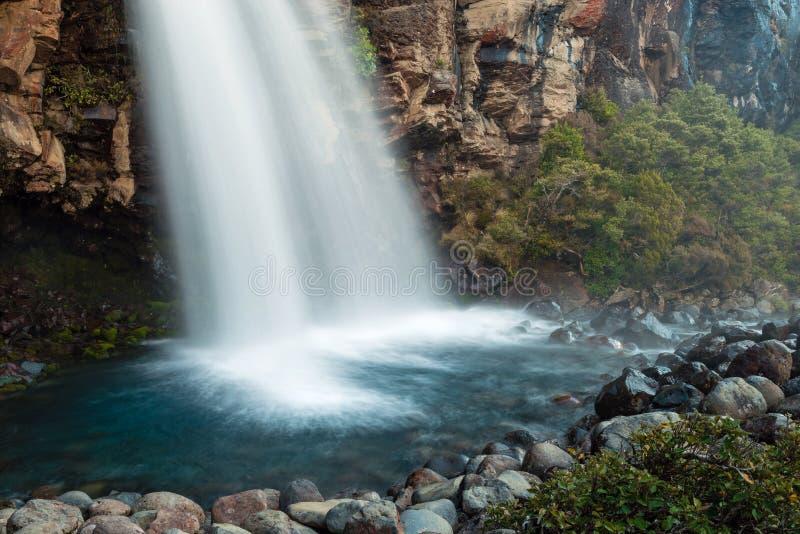 Taranaki nedgångar, Nya Zeeland arkivfoto