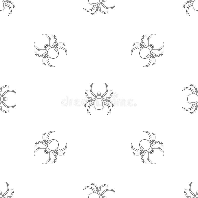 Tarantum pająka wzoru bezszwowy wektor ilustracji