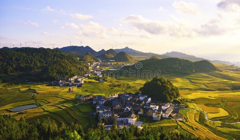 Taras przy Guizhou porcelaną zdjęcia royalty free
