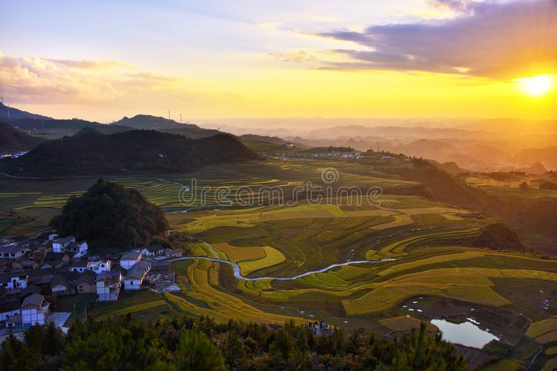 Taras przy Guizhou porcelaną obrazy royalty free