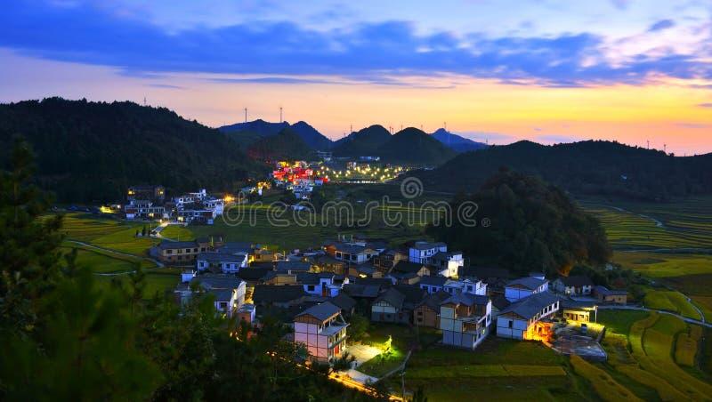 Taras przy Guizhou porcelaną fotografia stock