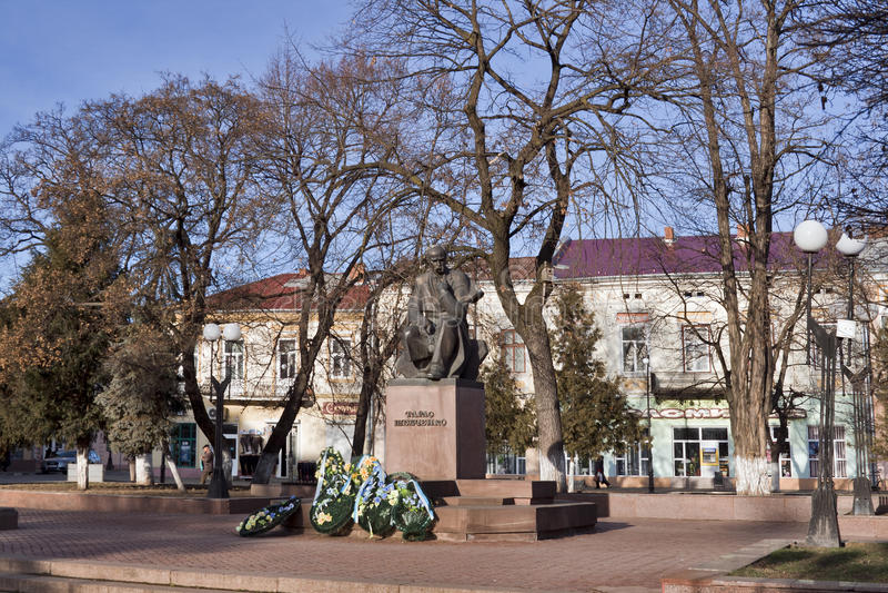 Taras Shevchenko Denkmal in Kolomyia, Ukraine stockbild