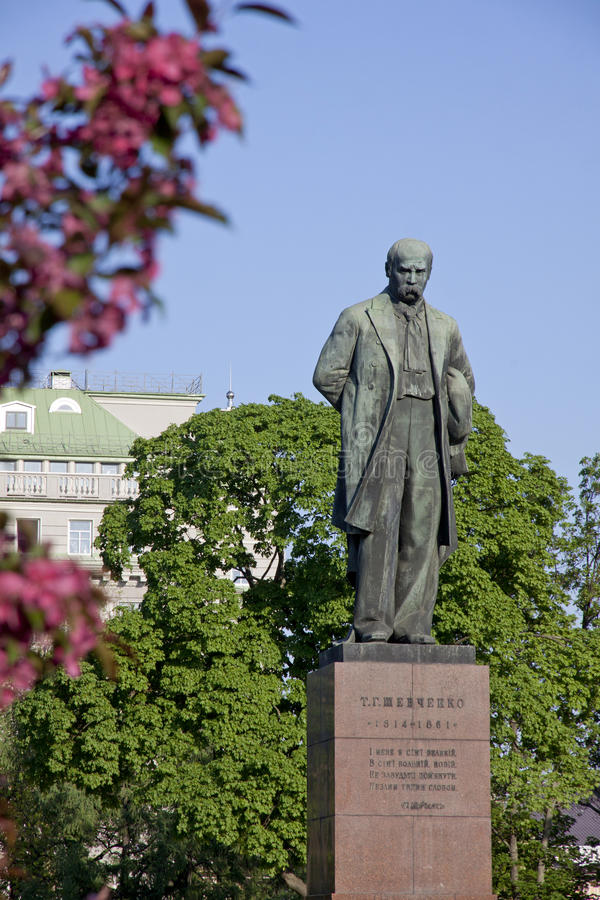 Taras Shevchenko monument in Kyiv. Monument to the famous ukrainian poet Taras Shevchenko in Kyiv, Ukraine (Sculptor Matvey Manizer royalty free stock photo