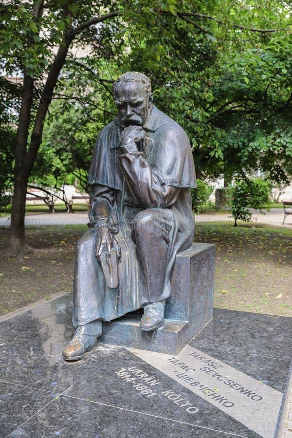 Taras Shevchenko monument on Sevcsenko square in Budapest, Hungary. Taras Shevchenko Monument on Sevcsenko ter in Budapest, Hungary stock photography