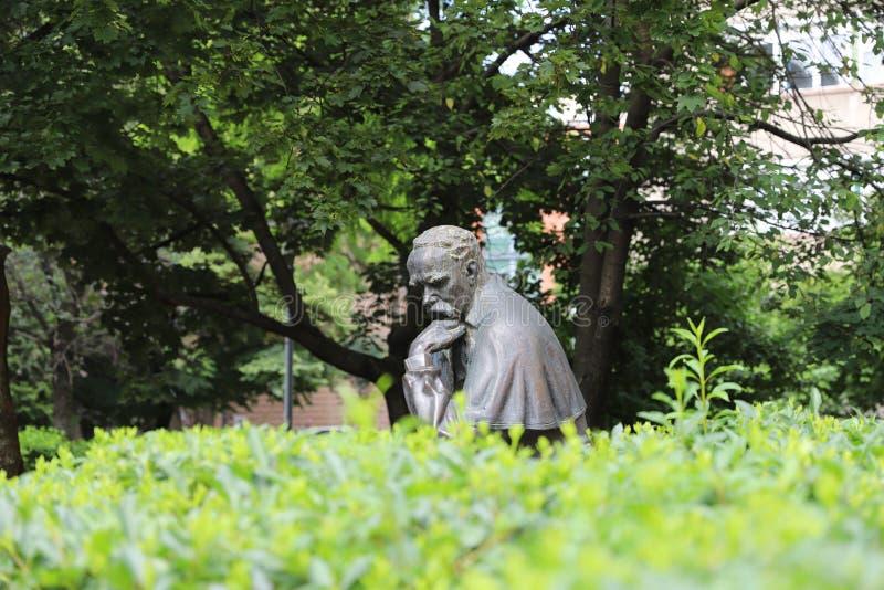 Taras Shevchenko monument on Sevcsenko square in Budapest, Hungary. Taras Shevchenko Monument on Sevcsenko ter in Budapest, Hungary stock image