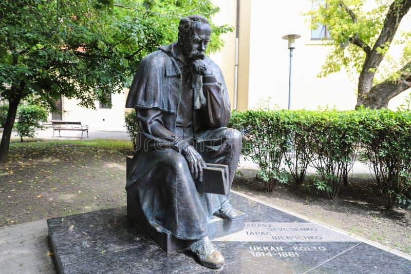 Taras Shevchenko monument on Sevcsenko square in Budapest, Hungary. Taras Shevchenko Monument on Sevcsenko ter in Budapest, Hungary royalty free stock photo
