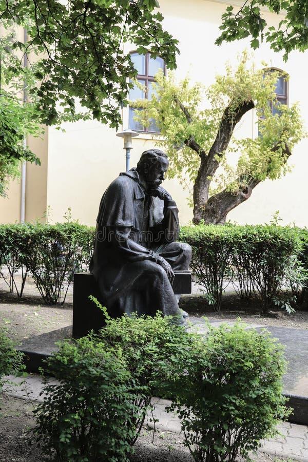 Taras Shevchenko monument on Sevcsenko square in Budapest, Hungary. Taras Shevchenko Monument on Sevcsenko ter in Budapest, Hungary royalty free stock photos