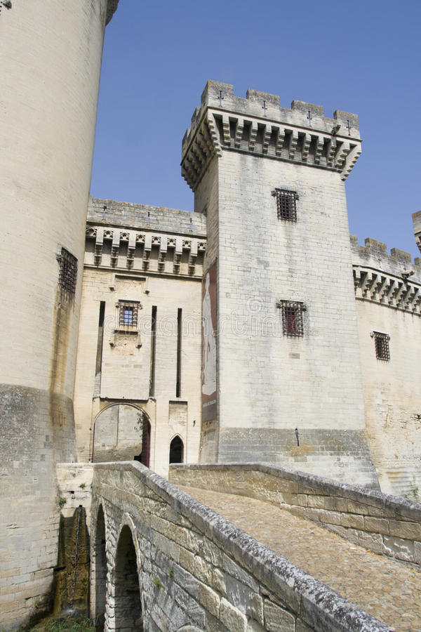 Download Tarascon castle entrance stock photo. Image of walls - 27010184
