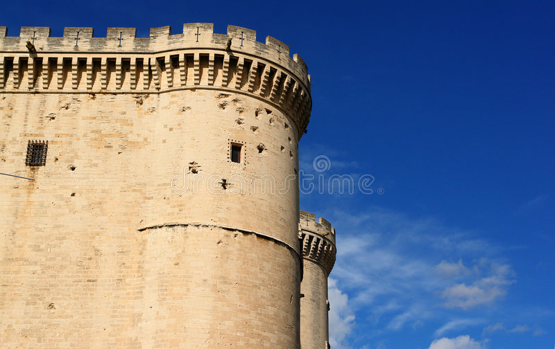 Download Tarascon castle exterior stock image. Image of military - 6642281