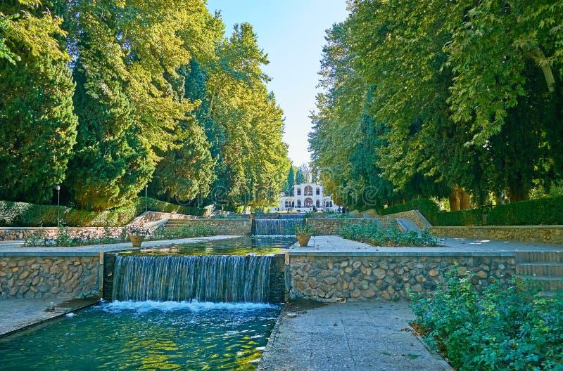 Tarasowaty Shazdeh ogród, Mahan, Iran obraz stock