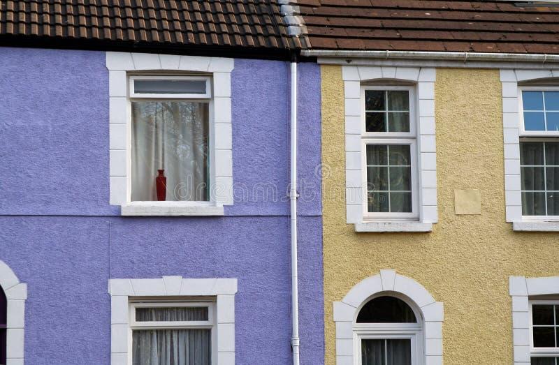 tarasujący domy. obraz stock